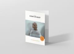 Náhľad tlačeného certifikátu